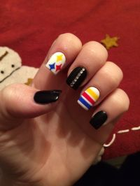 Pittsburgh nails, steelers nails, black and gold | Nails ...