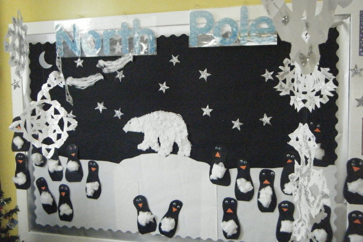 North Pole Scene Display Classroom Display Class Display Places Penguin Polar Bear Ice