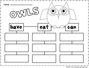 Owl printable included in I Love Autumn Literacy and Math