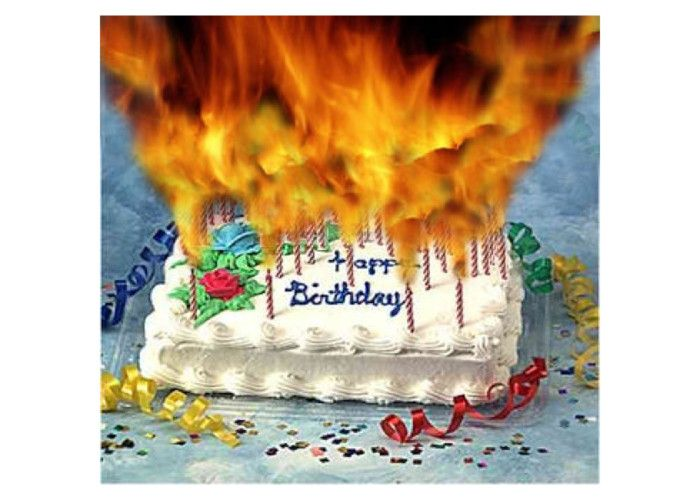 Fire Too Many Candles Birthday Cakes