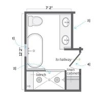 DIY Small Bathroom Floor Plans Shed Dormers Raised the ...