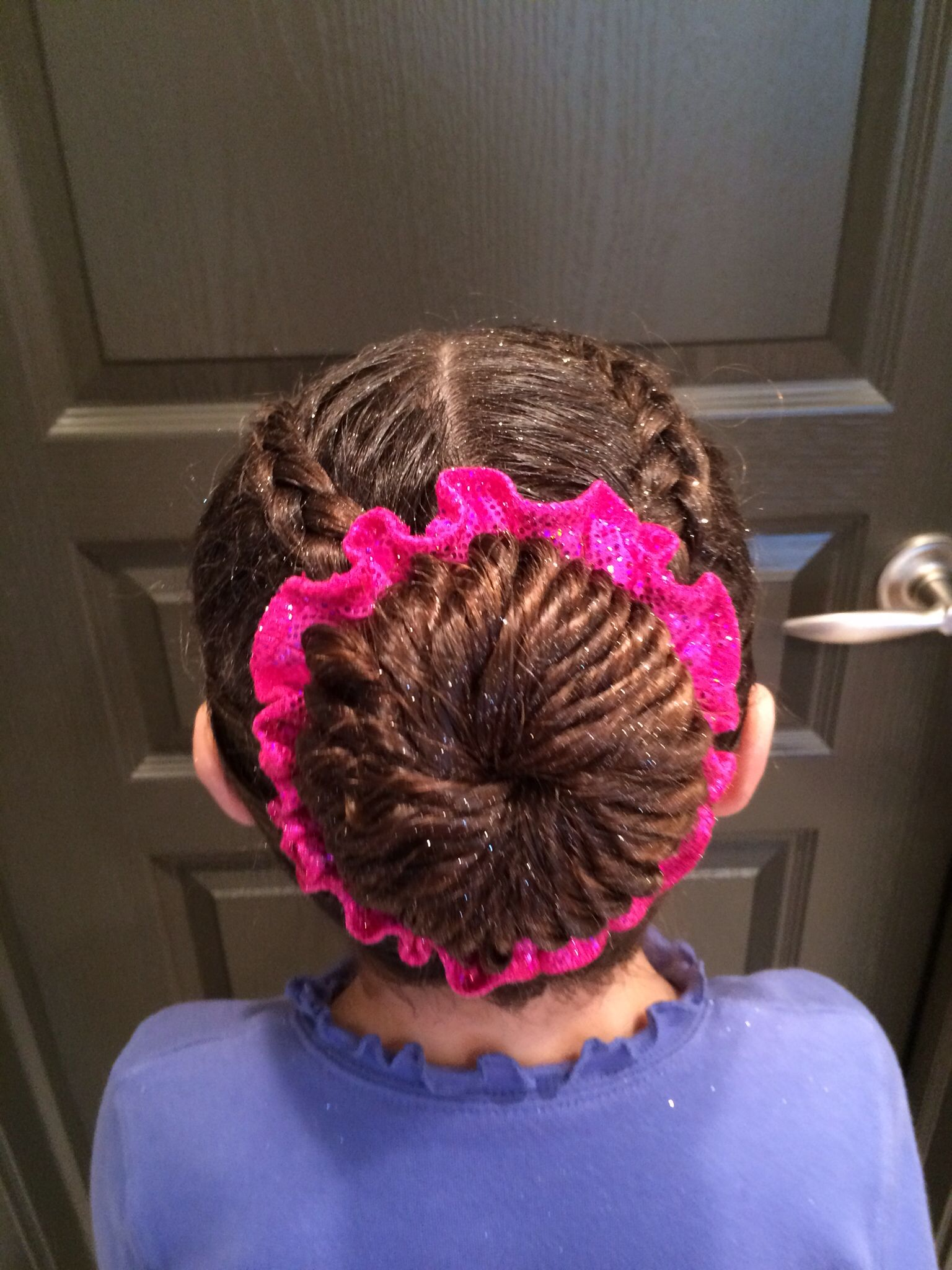 Gymnastics Competition Hair On Amelie Donald Braids Pinterest