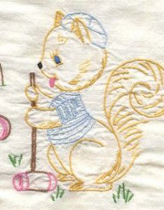 Baby quilt squirrel and croquet also quilts needlecrafts embroidery album rh pinterest