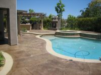 Pool, Patio Deck, Concrete Stamping, staining, color ...