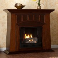 Infrared Fireplace Large Amish Wood Electric Space Heater ...