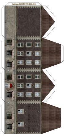 HO Scale Buildings Paper Model