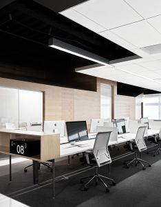 Office tour inside techshed   open and collaborative offices also rh pinterest
