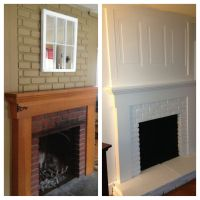 Finally done with fireplace redo! Ugly old brick ...