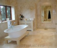 Bathroom with Travertine Walls and Floors, Travertino ...