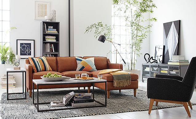 Classic Crafted Living Room  west elm  The Pink House