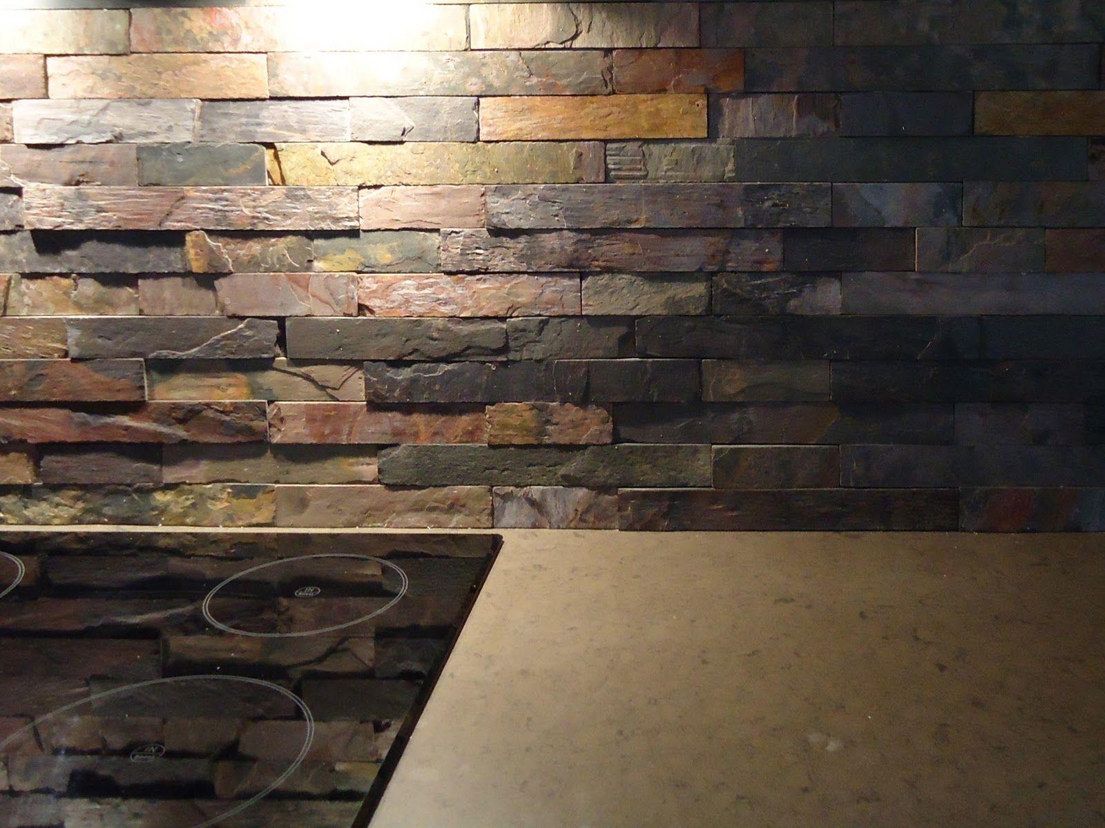 stacked stone kitchen backsplash grohe faucets slate countertops and back splash