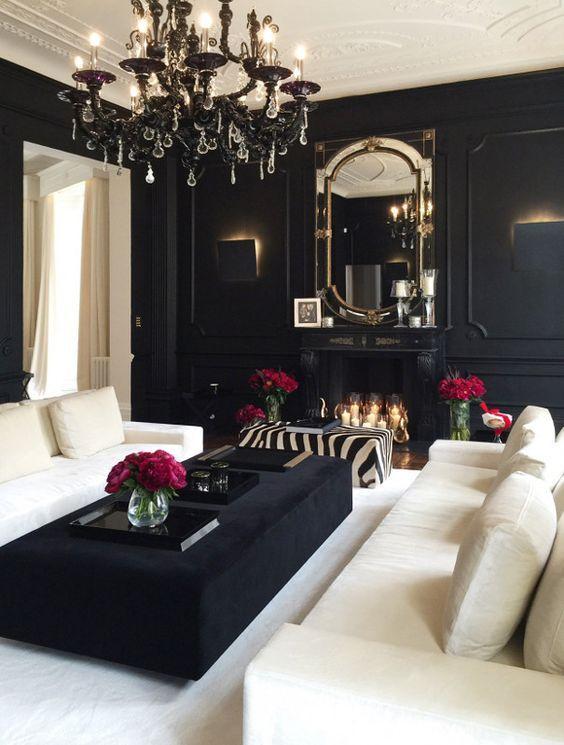 Living room ideas black white decor kortenstein also interior design rh pinterest