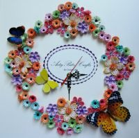 Quilled Clock   The Art of Quilling   Pinterest   Clocks ...