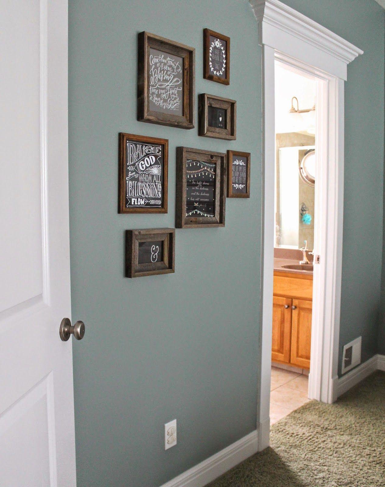paint color: Valspar Blue Arrow dark rustic frames, Hobby