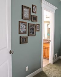 paint color: Valspar Blue Arrow dark rustic frames, Hobby