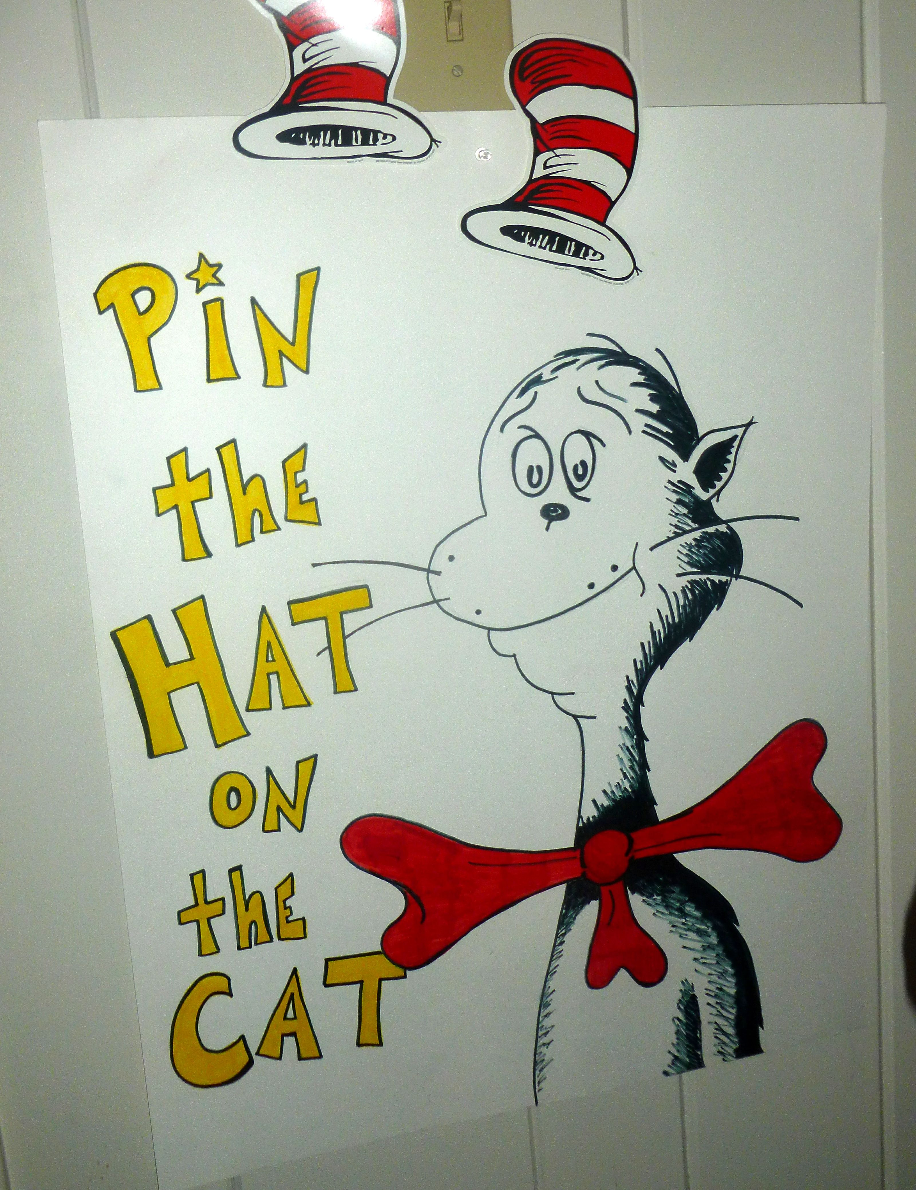 Pin The Hat On The Cat Game