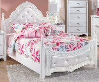 Exquisite Full Size Poster Bed by Ashley Furniture White