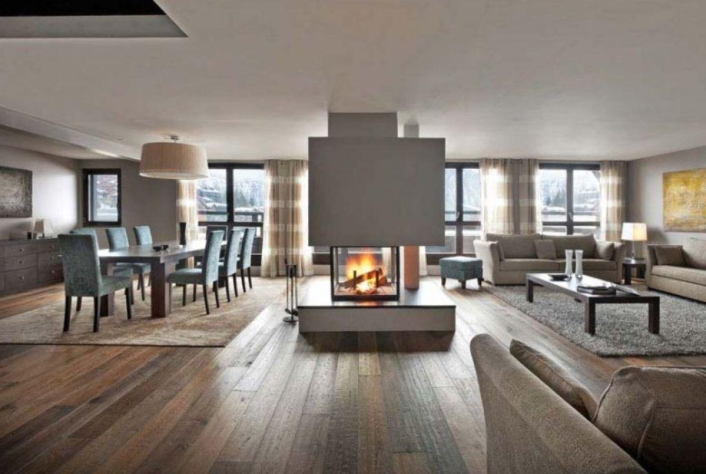 Moderne Wohnzimmer Mit Kaminofen