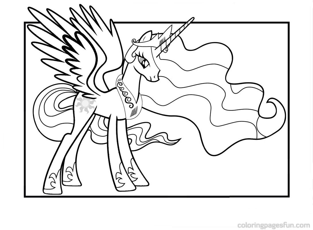 New Princess Celestia Coloring Pages Free Printable Coloring