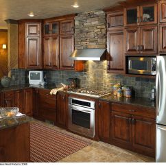 Rustic Hickory Kitchen Cabinets Lowes Sinks And Faucets Some Of These Kitchens
