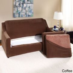 Sure Fit Stretch Pearson 3 Pc Sleeper Sofa Slipcover Full Convertable Piece Overstock Com Shopping