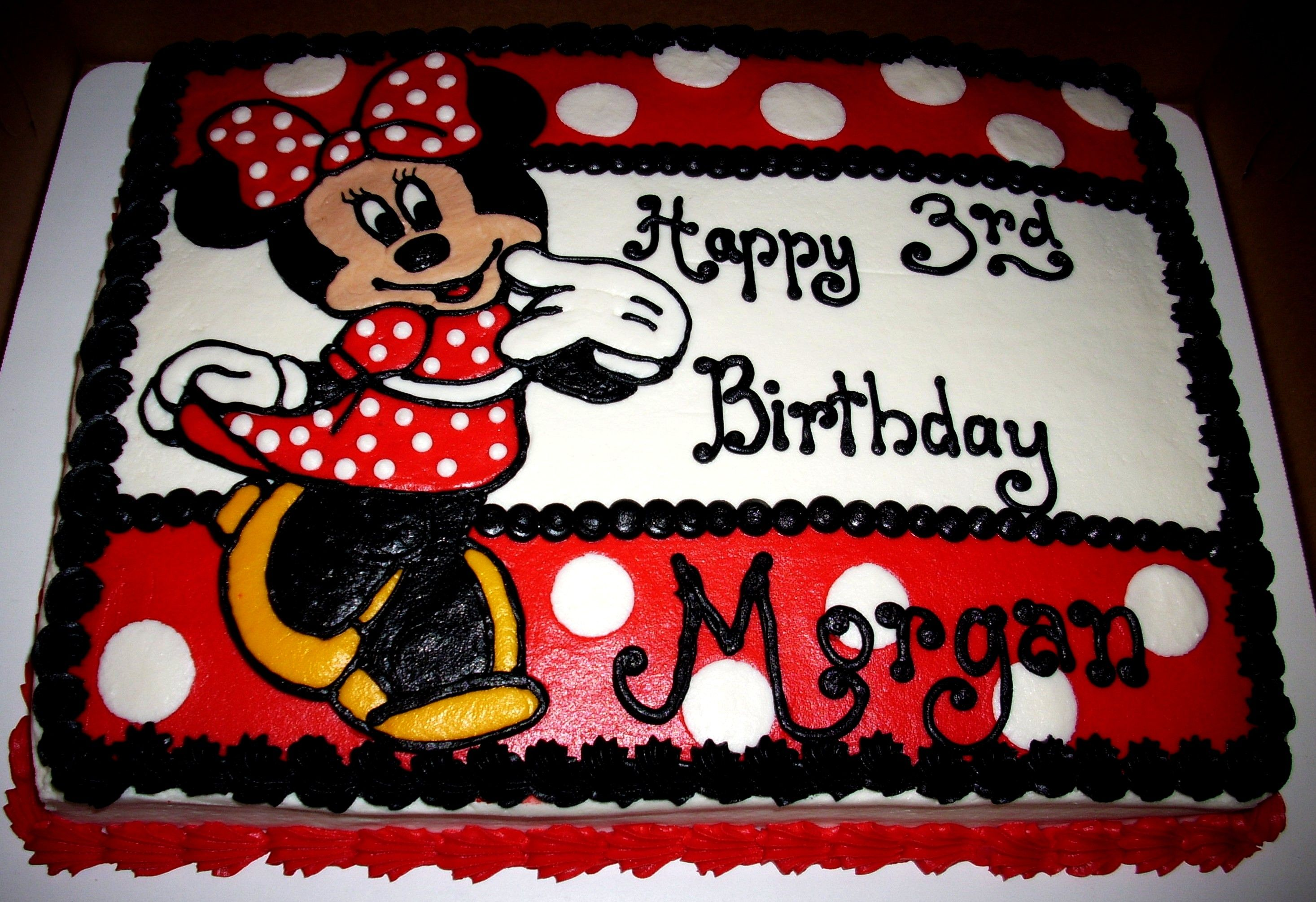 Minnie Mouse Sheet Cake L Buttercream Icing And