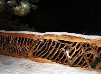rustic deck rails