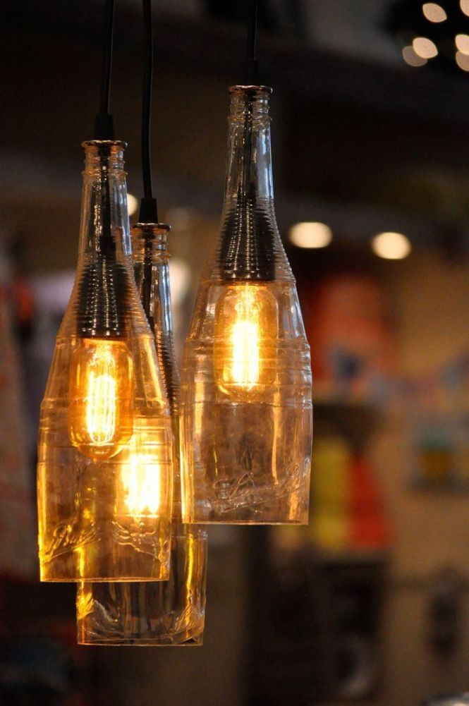 Edison Bulb Light Ideas 22 Floor Pendant Table Lamps Recycle Wine Bottleswine