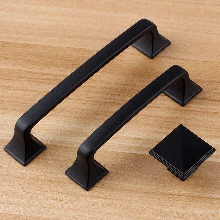 """5"""" 3.75"""" Black Dresser Handle Door Knob Pull Knob Pulls"""