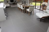 Image of: Grey Porcelain Floor Tile Dining Room | Floors ...