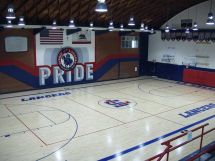 High School Basketball Gym Floor