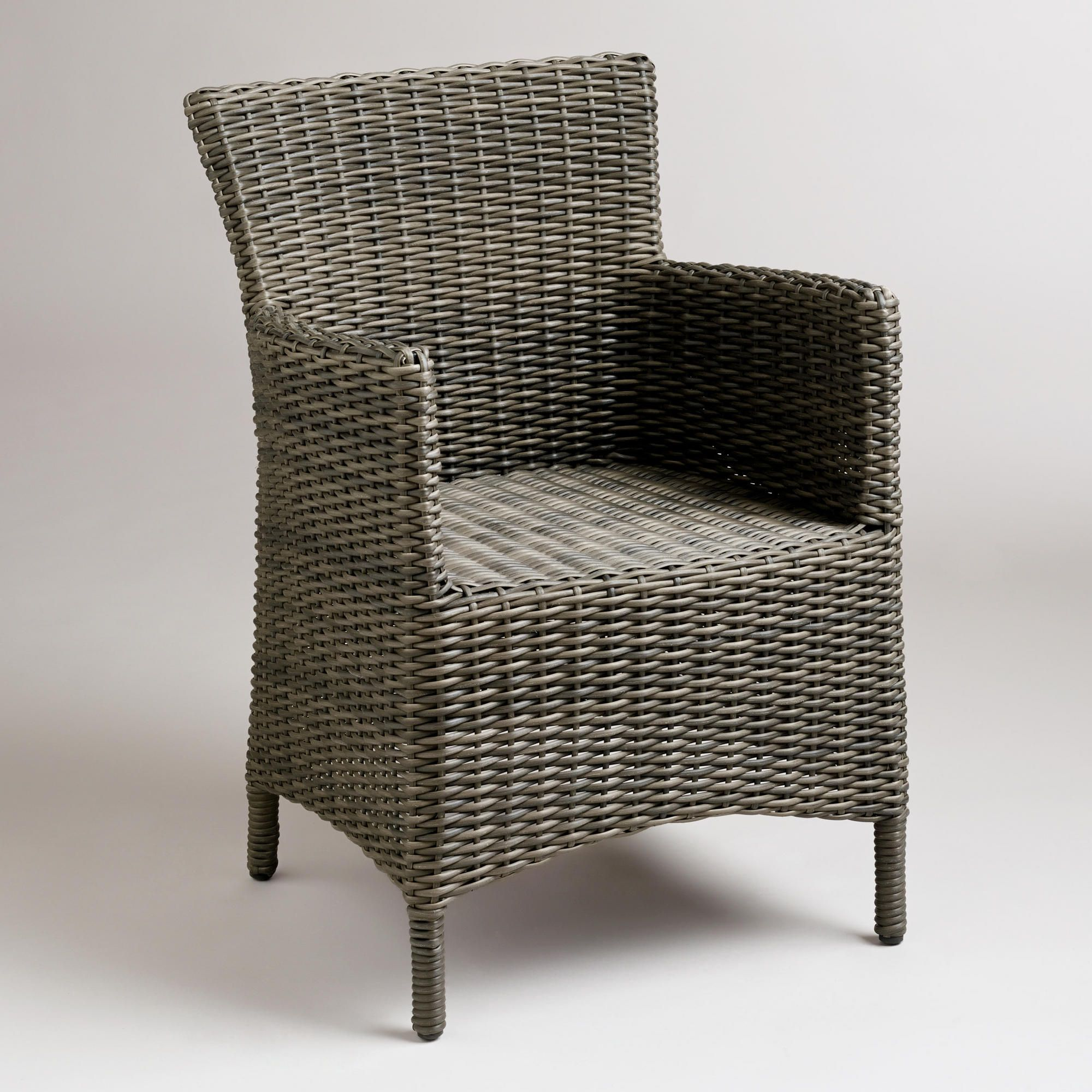 All Weather Wicker Chairs Gray All Weather Wicker Solano Armchair Armchairs Room
