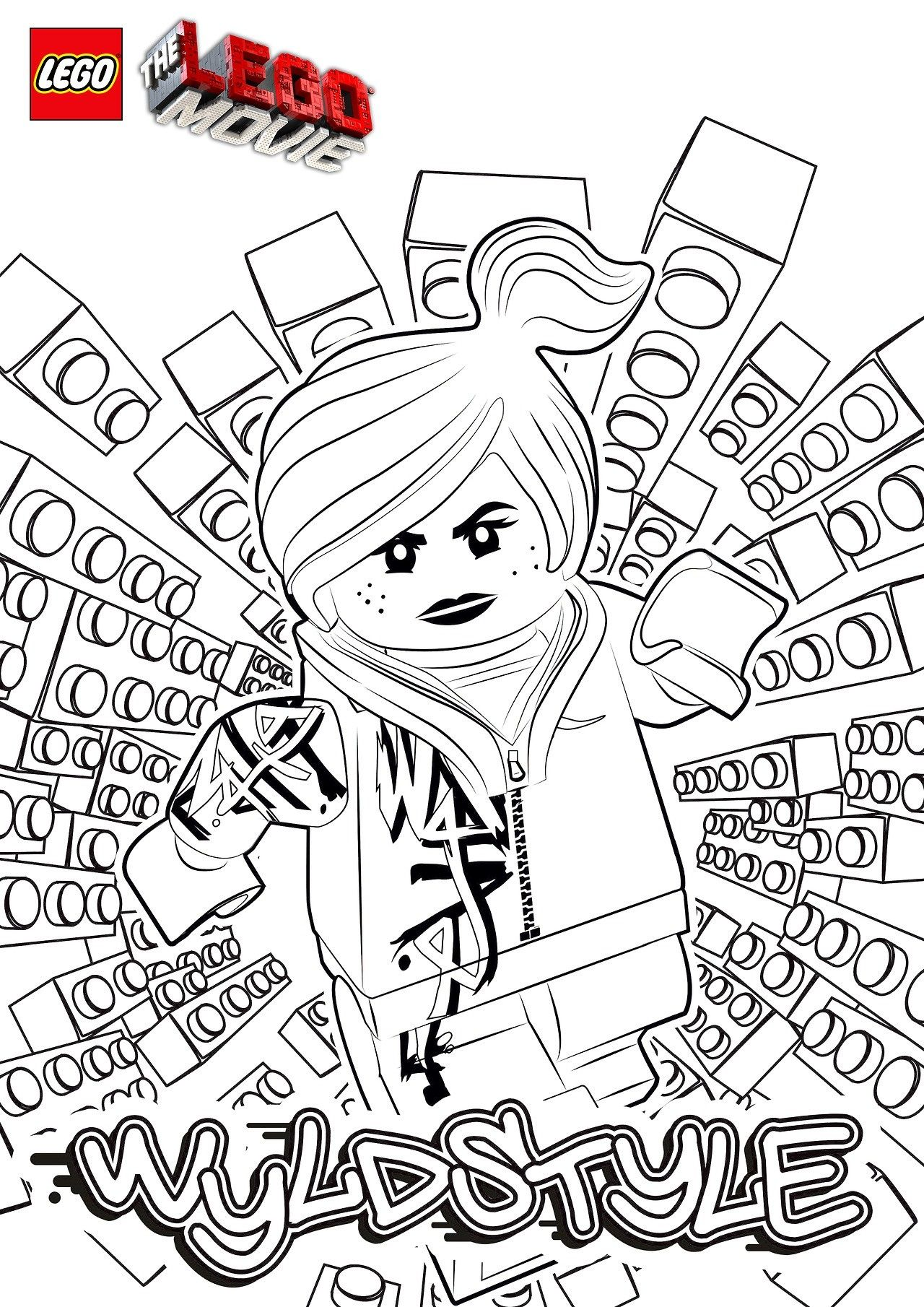 The Lego Movie Wyldstyle Coloring Page Legos Pinterest