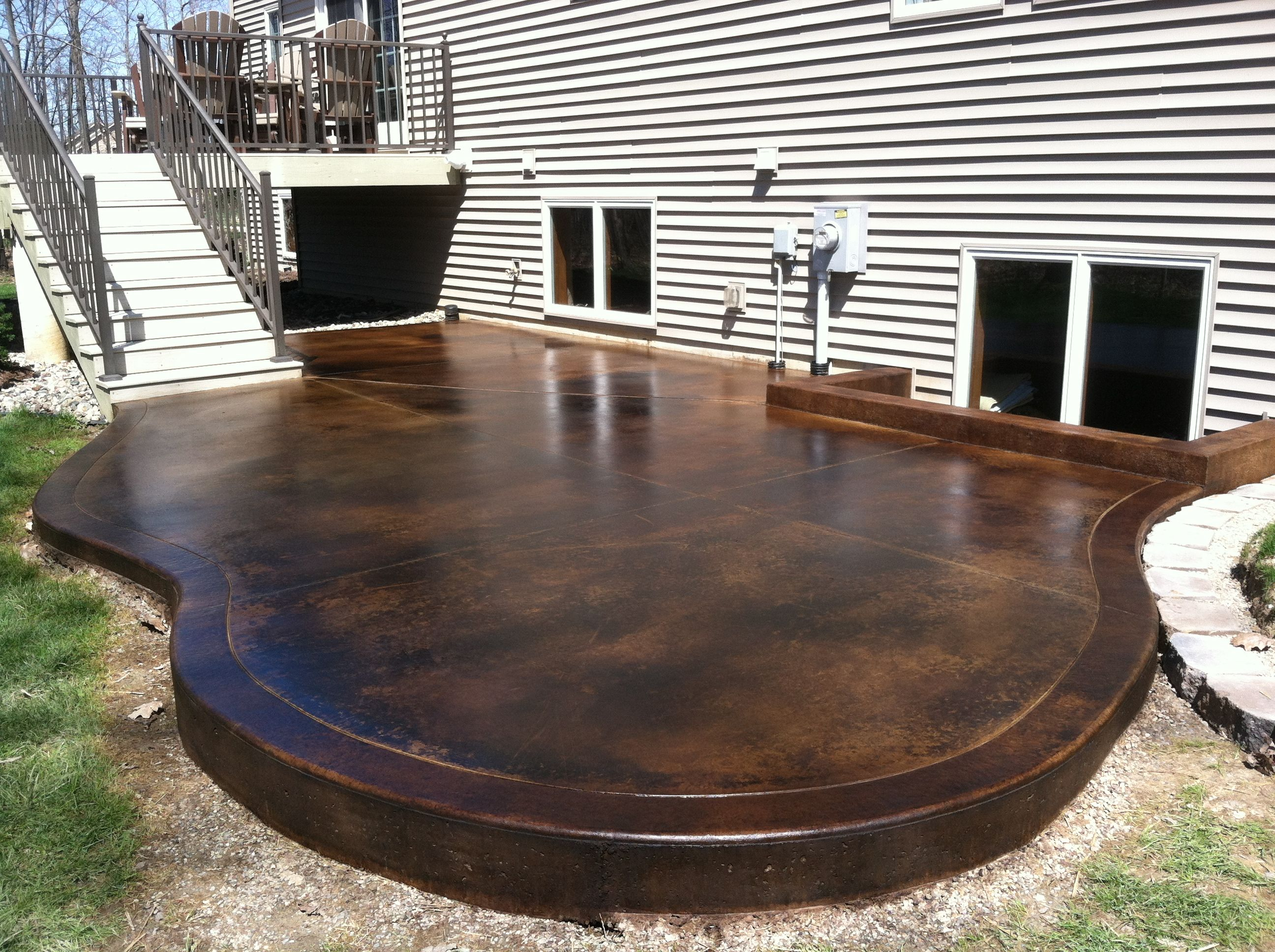 Colored Concrete Patio on Pinterest  Stamped Concrete Patios Concrete Patio Stain and Concrete