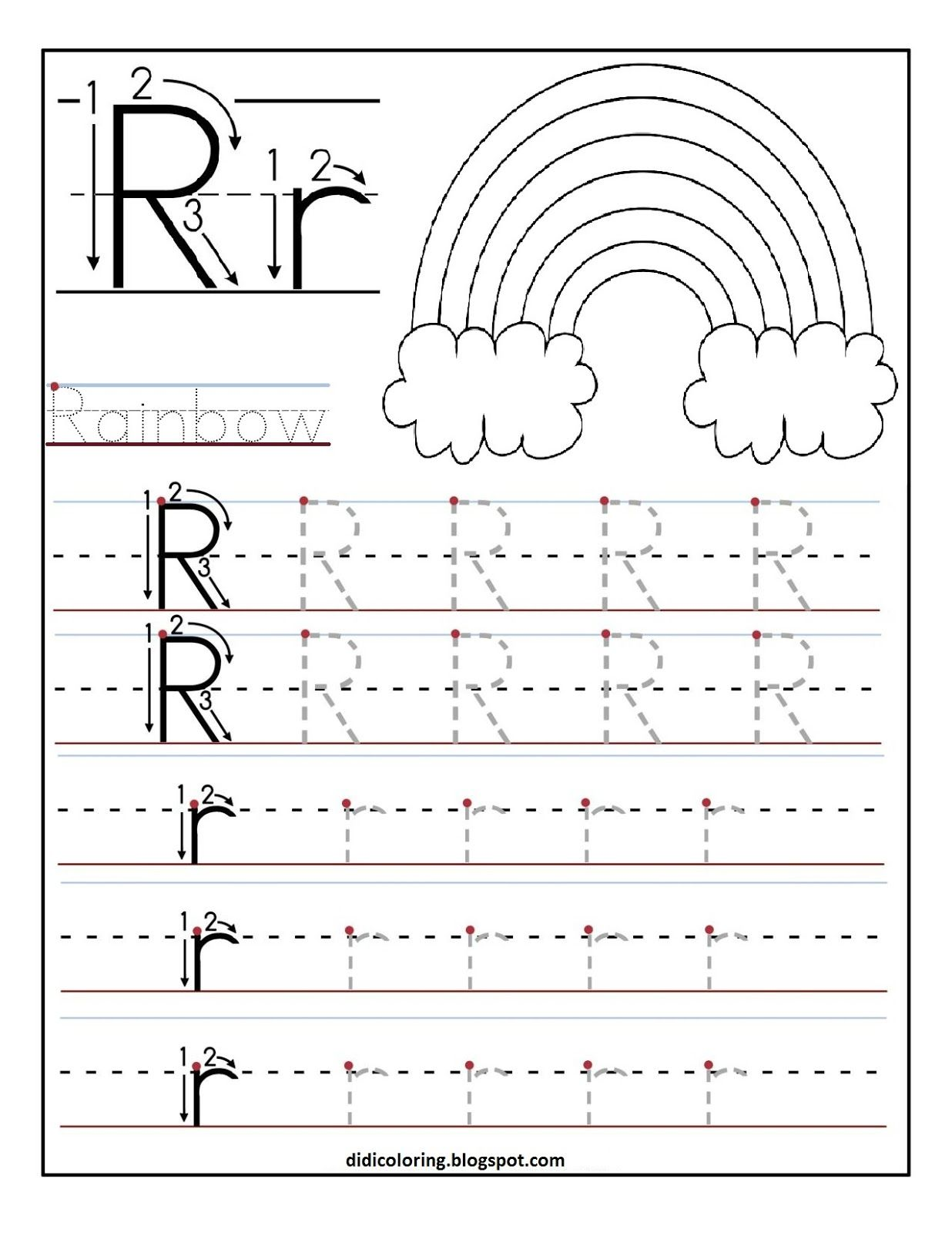 Printable Letter R Tracing Worksheets For Kids 1 236 1 600 Pixels
