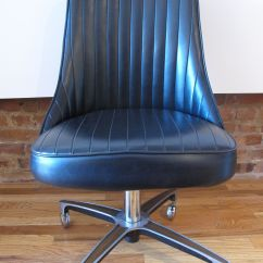 Chromcraft Chairs Vintage Large Chair Slipcovers Mid Century Rolling Office By Sold
