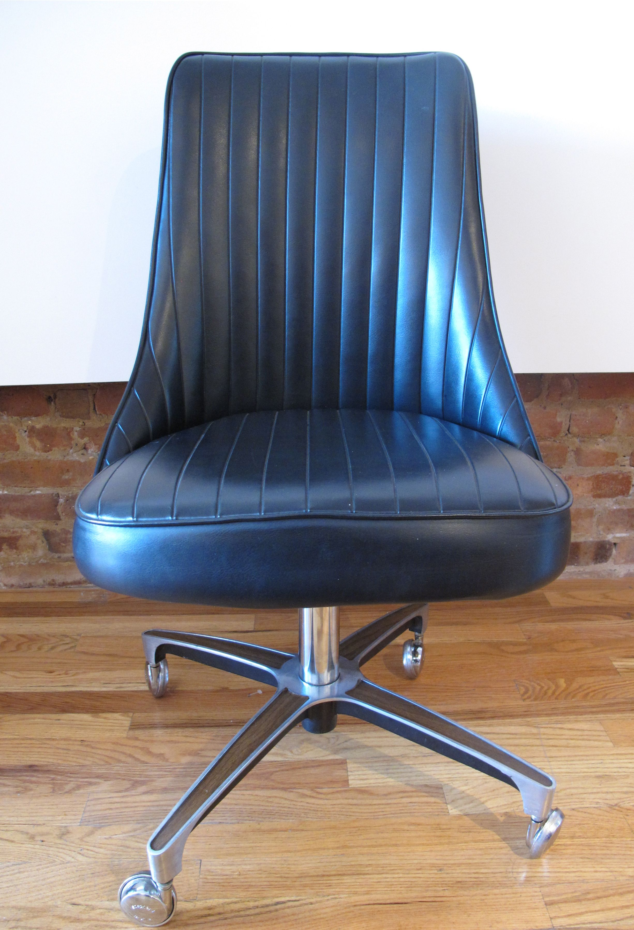 Chromcraft Chairs Mid Century Rolling Office Chair By Chromcraft Sold