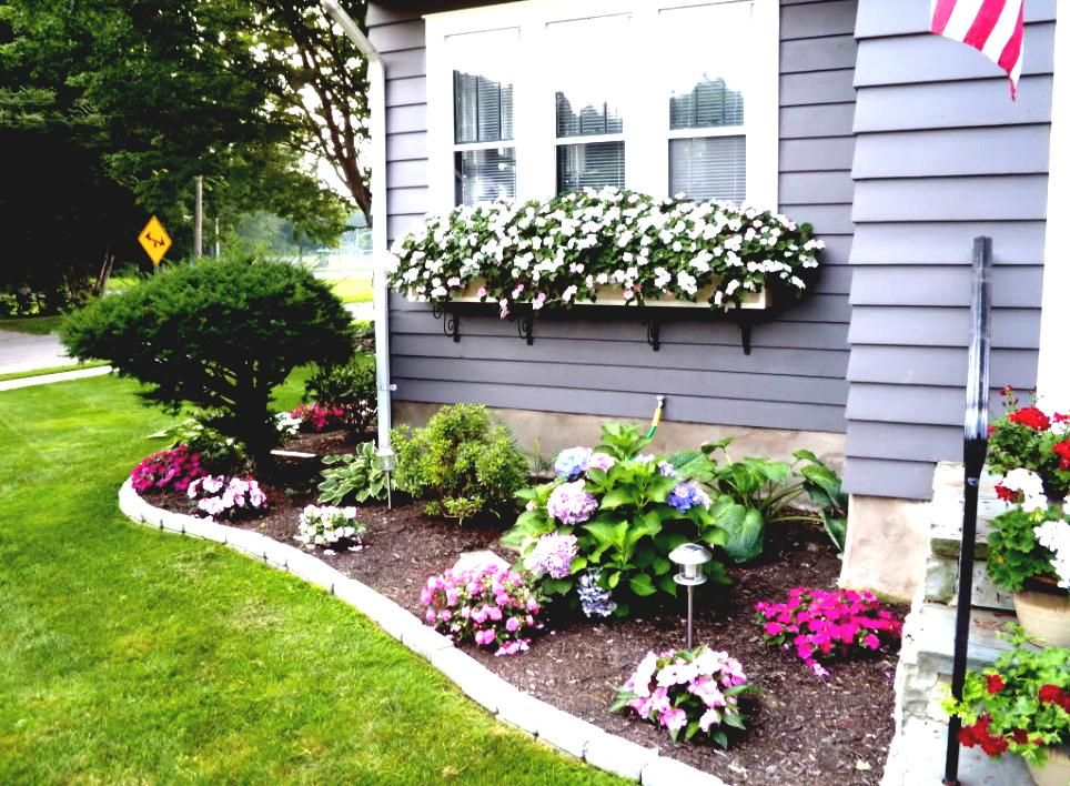 Flower Bed Ideas For Front Of House Back Front Yard