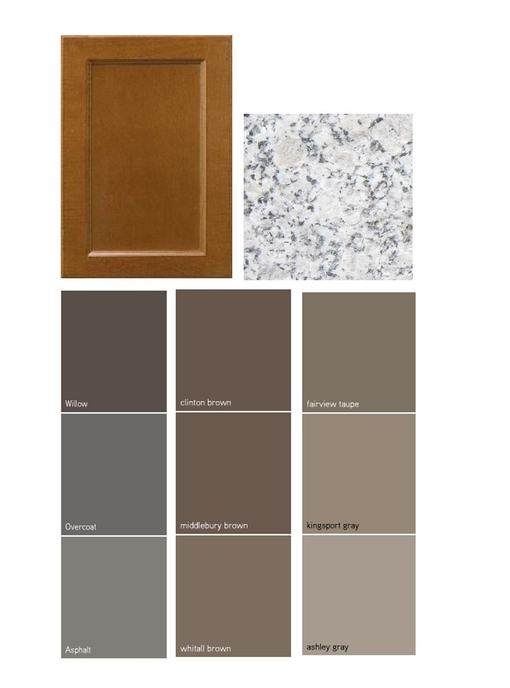 Dark taupe colored china cabinet