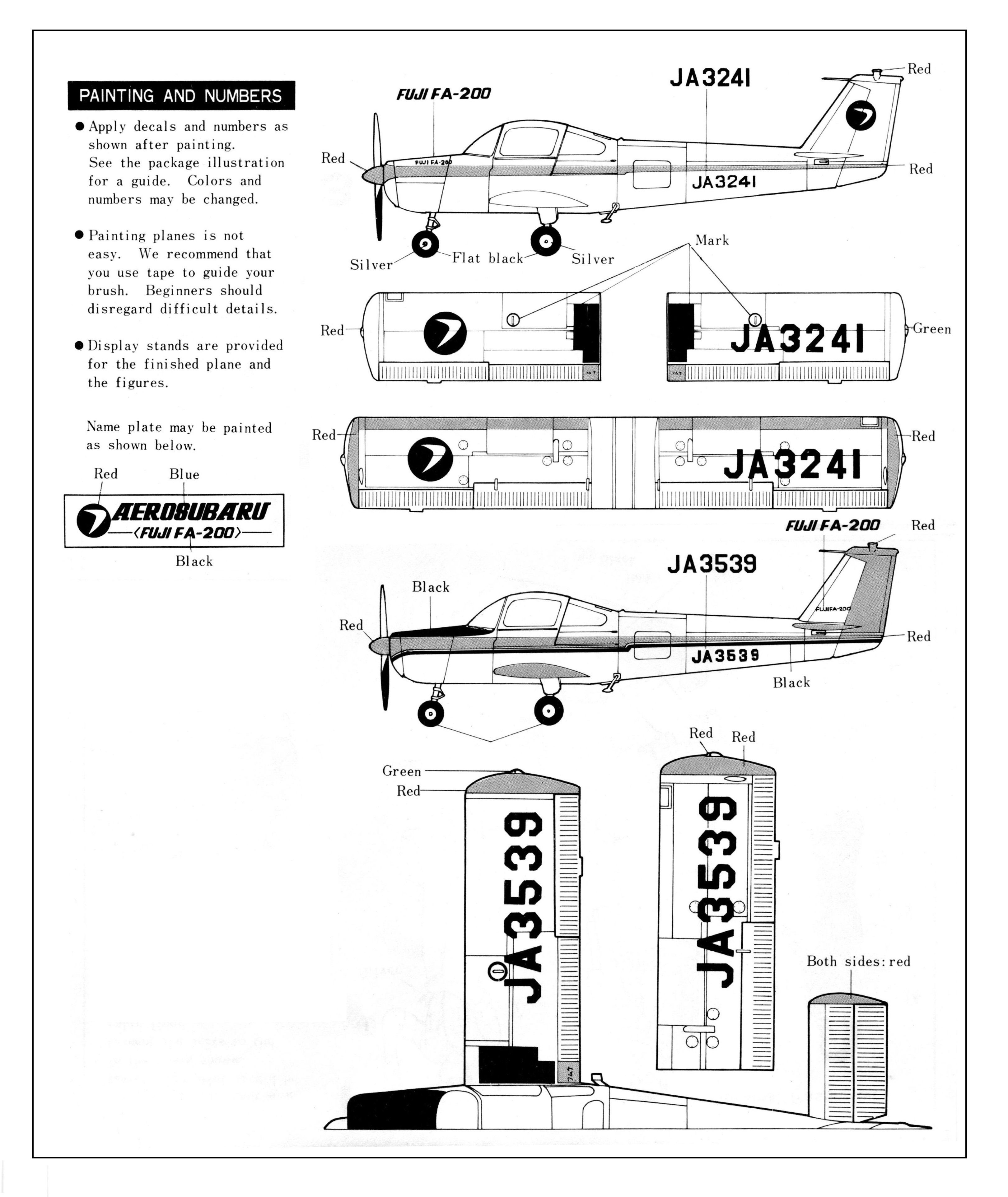 Pin by Gluefinger on Bandai 1/48 Aero Subaru (Fuji FA-200