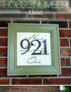 Creative diy house numbers also tutorials and rh pinterest