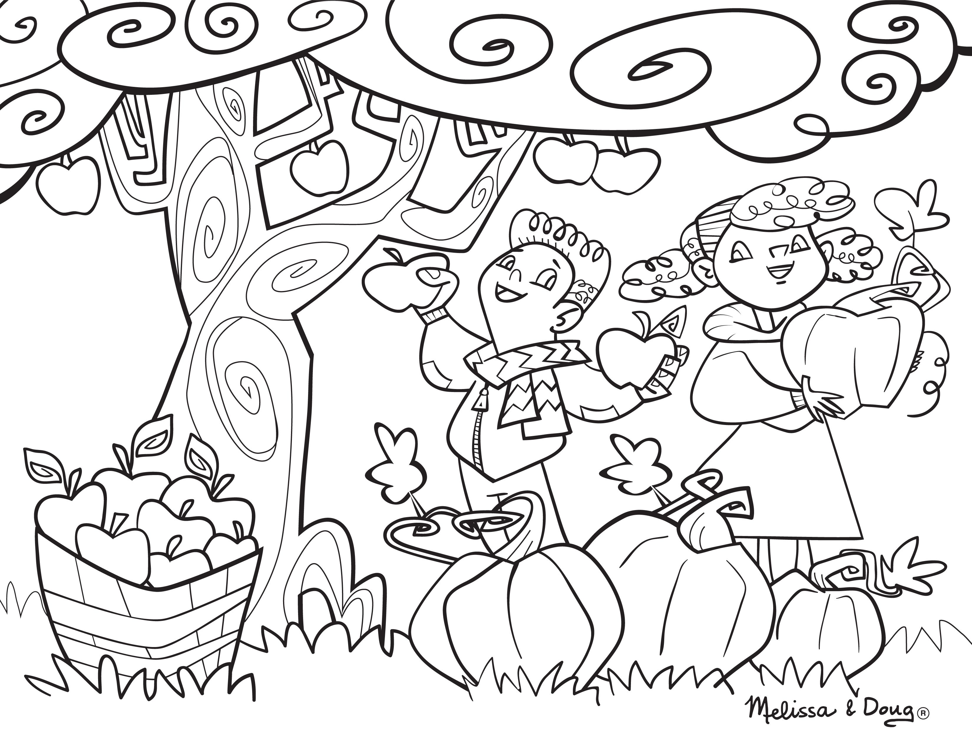 Picking Apples Coloring Pages