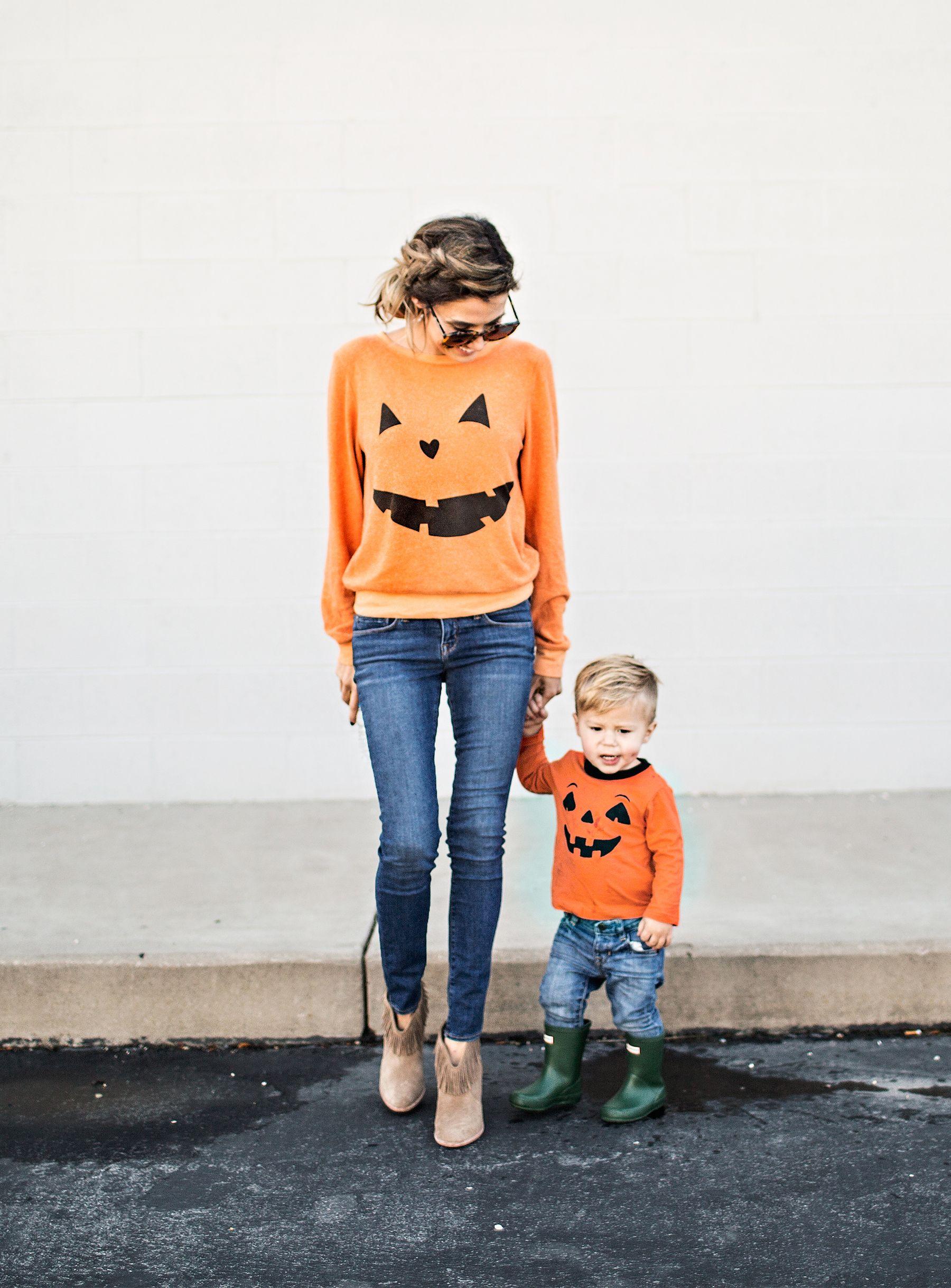 Loving These Matching Jack O Lantern Sweatshirts Cute For
