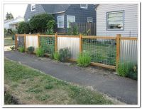 Corrugated Metal Fence Ideas | Garden Works: Furnishings ...
