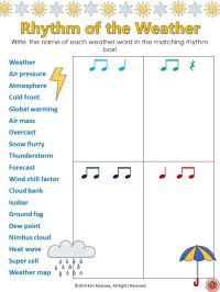RHYTHM: 12 RHYTHM Worksheets SET 4 | Increase vocabulary ...