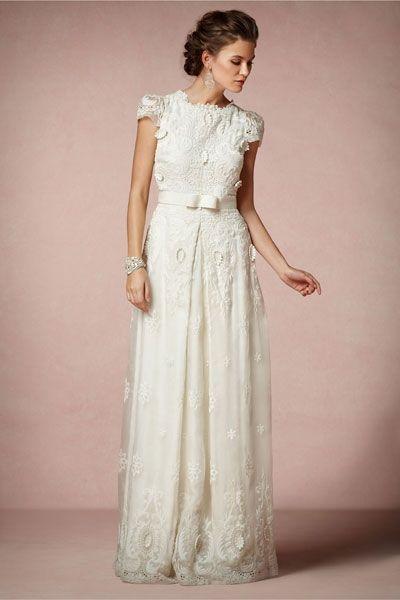 Vintage Hochzeitskleid Spitze Und Schleife Everything But The