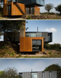 Shipping container home acts like  sculpture in the irish land also best images about on pinterest rh