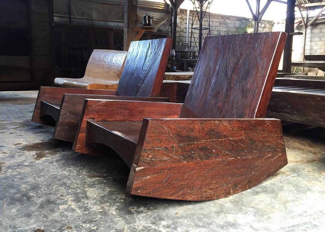 chair design iron wing cover rocking borneo wood ironwood