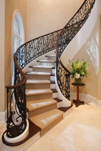 Custom staircase design for a French Manor...beautiful ...