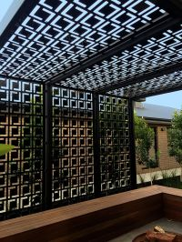 Decorative privacy screen & pergola using QAQ's 'Babylon ...